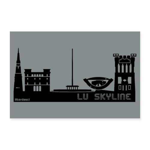 Poster: Lu Skyline grigio metal - Poster 90x60 cm