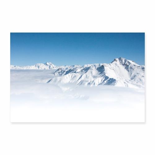 Mer de nuages depuis la Madeleine - Poster 90 x 60 cm