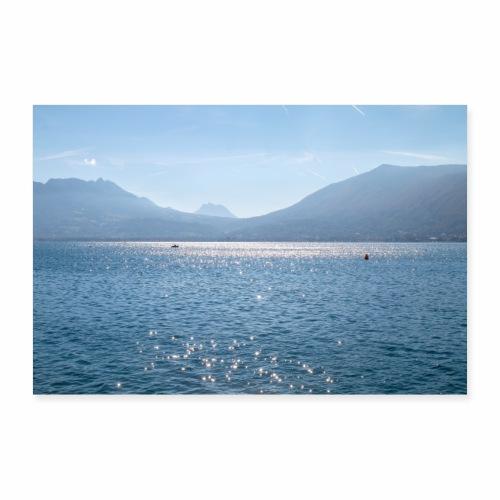 Lac d'Annecy en automne - Poster 90 x 60 cm