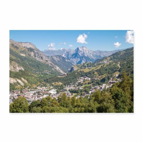 Village de montagne - Poster 90 x 60 cm