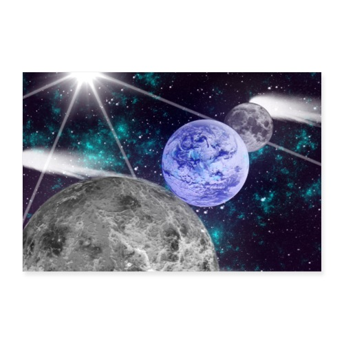 Space By Alone - Poster 90 x 60 cm