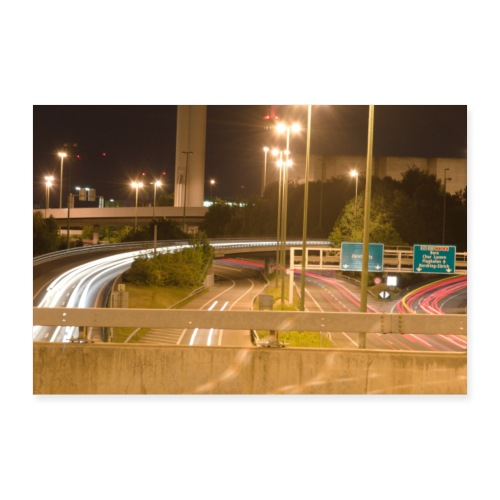 Autobahnkreuz - Poster 90x60 cm