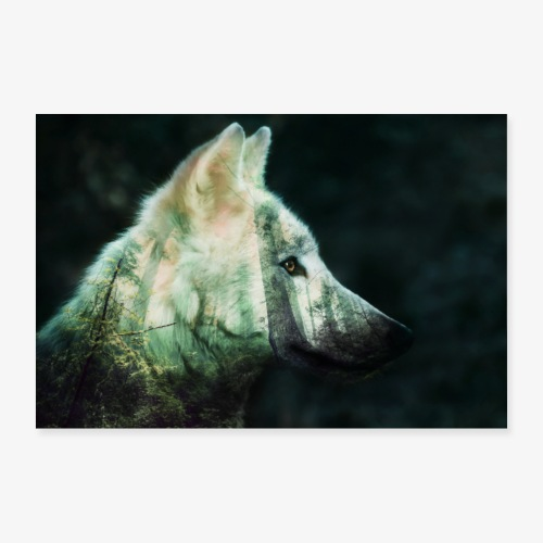 wolf spirit - Poster 90 x 60 cm