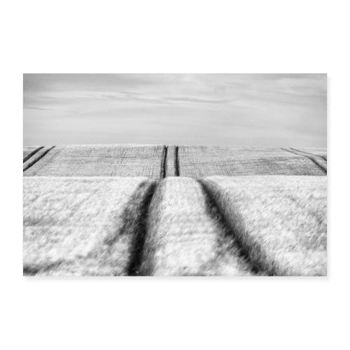 Spuren im Feld - Poster 90x60 cm