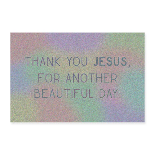 Thank You Jesus Poster Wandbild - Poster 90x60 cm