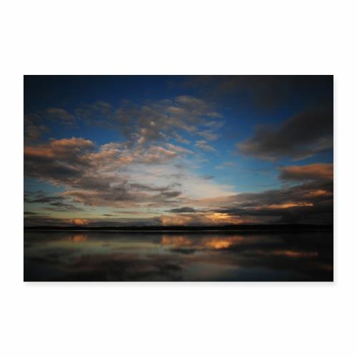 Sonnenuntergang in Schweden - Poster 90x60 cm