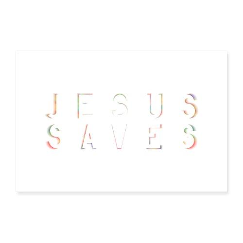 Jesus Saves Poster Wandbild - Poster 90x60 cm