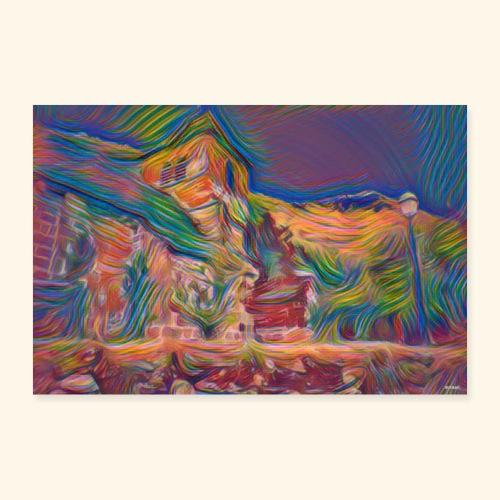 color church - Poster 90 x 60 cm