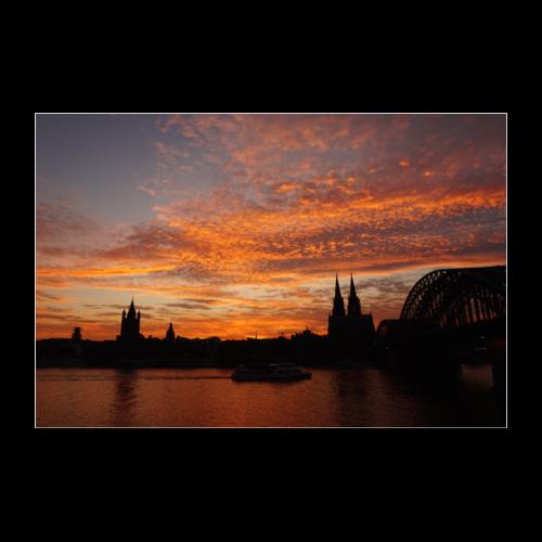 Kölner Skyline - Poster 90x60 cm