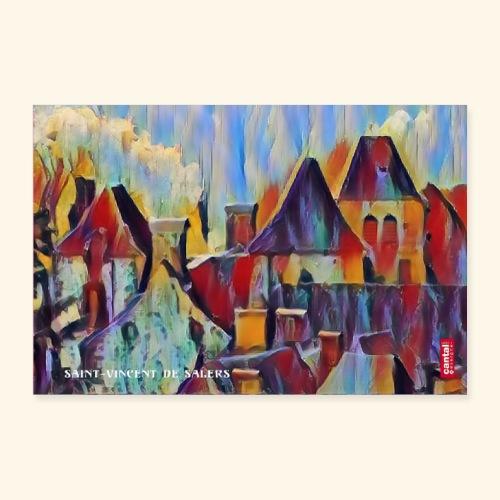 Saint vincent abstract - Poster 90 x 60 cm
