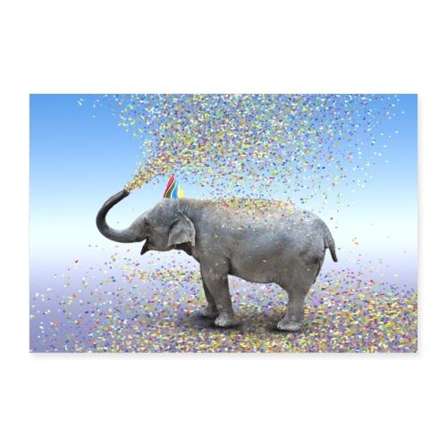 Elefant - Poster 90x60 cm