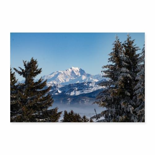 Le Mont-Blanc depuis les Bauges - Poster 90 x 60 cm