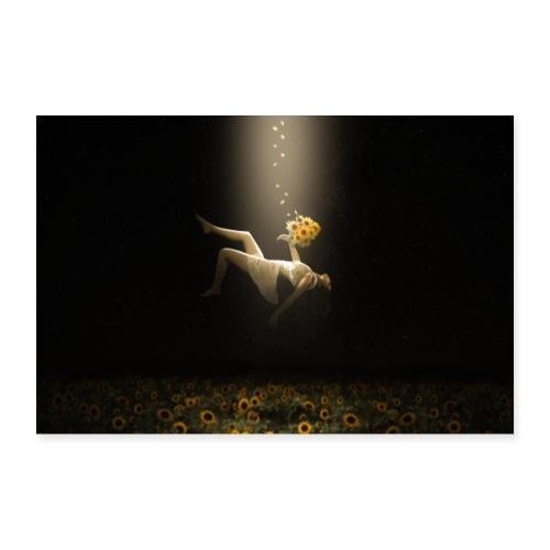 Sunflower Night - Poster 90x60 cm