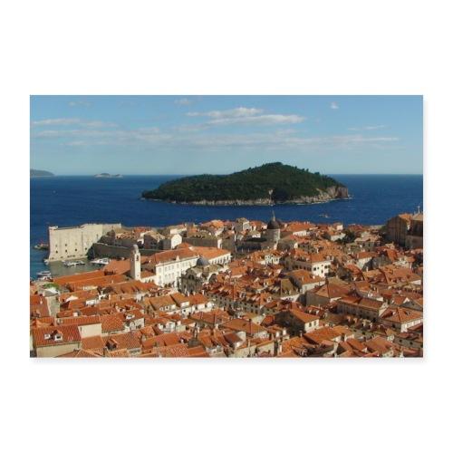 Dubrovnik + Lokrum - Kroatien - Poster 90x60 cm