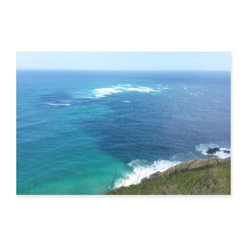 Pazifik türkis blau Natur - Cape Reinga Neuseeland - Poster 90x60 cm