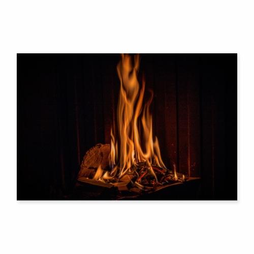 Feuer und Flamme - Poster 90x60 cm