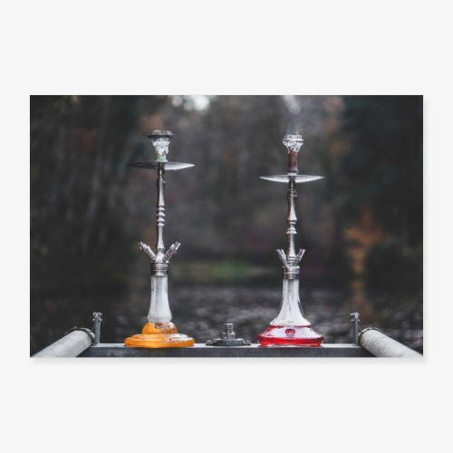 The Hookah Twins - Poster 90x60 cm