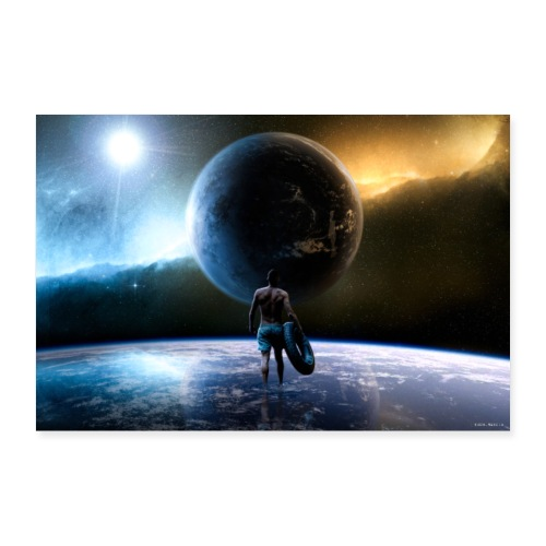Pure Space Lights - Poster 90x60 cm