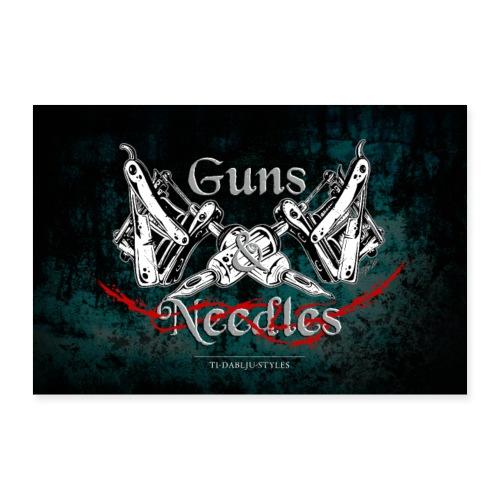 Poster Guns n Needles - Poster 90x60 cm
