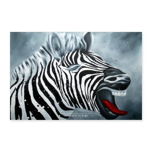 Poster Zebra - Poster 90x60 cm
