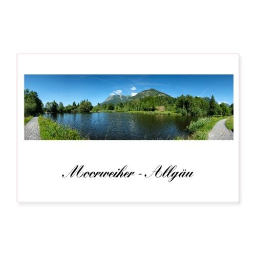 Moorweiher Weiher See Oberstdorf Allgäu Bayern - Poster 90x60 cm