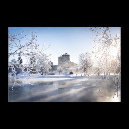 Talvinen Olavinlinna - Juliste 90x60 cm