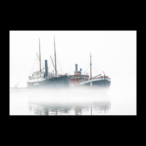 Usvainen Savonlinnan museolaiva - Juliste 90x60 cm