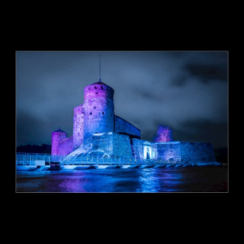 Olavinlinna illumination 2019 - Juliste 90x60 cm