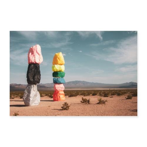 7 Magic Mountains - Poster 90x60 cm
