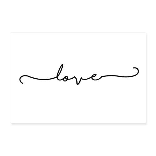 love - Poster 90x60 cm