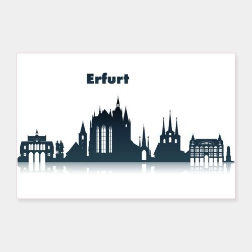 Erfurt Skyline - Poster 90x60 cm