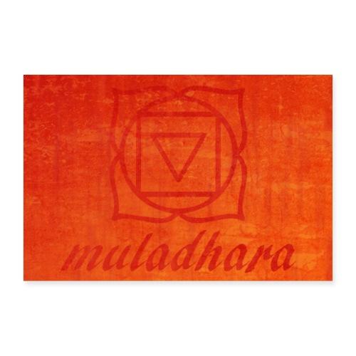 poster muladhara chakra hindu tantrism India yoga - Poster 90x60 cm