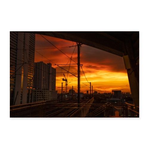 Bangkok Sunset - Poster 90x60 cm
