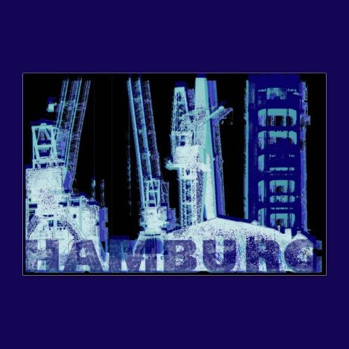 Hamburger Hafen: Künstler-Motiv im Siebdruckstil - Poster 90x60 cm