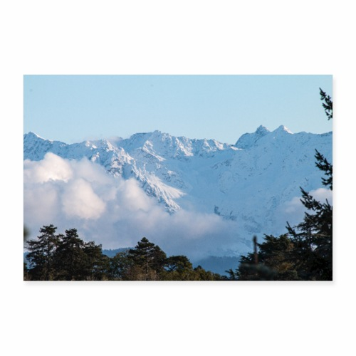 Montagne de Belledonne depuis Chambéry - Poster 90 x 60 cm