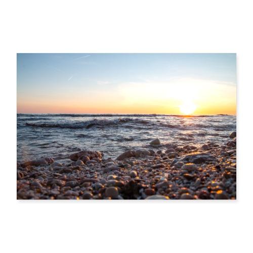 Coucher du soleil sur la mer - Poster 90 x 60 cm