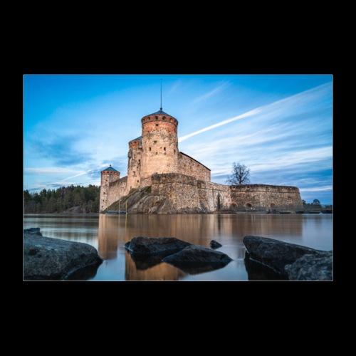 Olavinlinna alkukeväästä - Juliste 90x60 cm