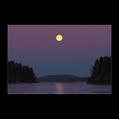 Täysikuu Saimaan yllä - Juliste 90x60 cm