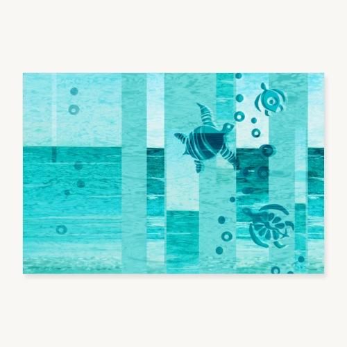 Turtles - Poster 90x60 cm