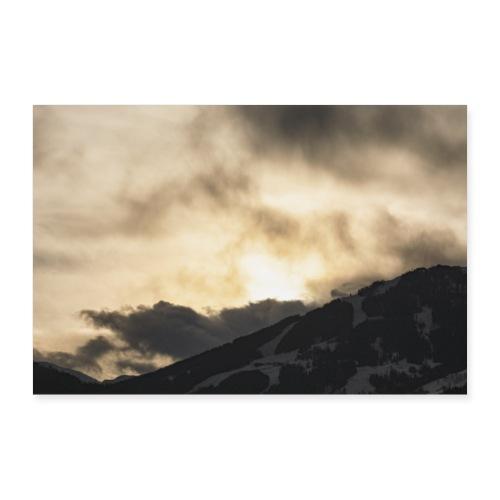 Wintersonne über Alpbach - Poster 90x60 cm
