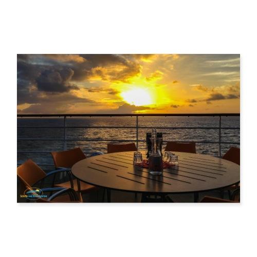 SuK Bild - Dinner with a View auf Kreuzfahrtschiff - Poster 90x60 cm