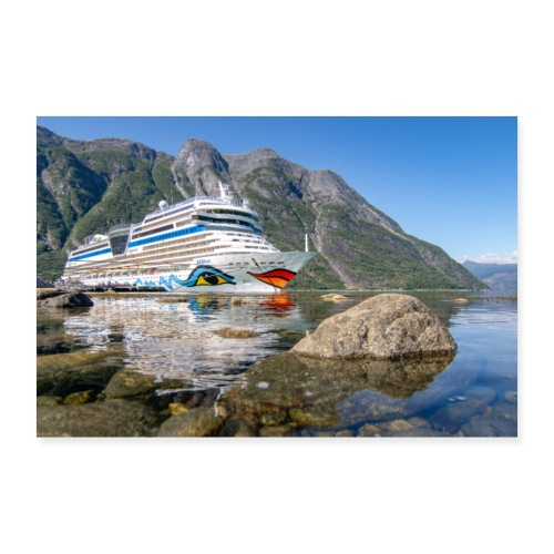 Sol-Schiff Eidfjord by Grubegrafie - Poster 90x60 cm