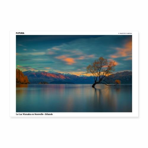 Poster Lac de Wanaka Nouvelle Zélande - Poster 90 x 60 cm