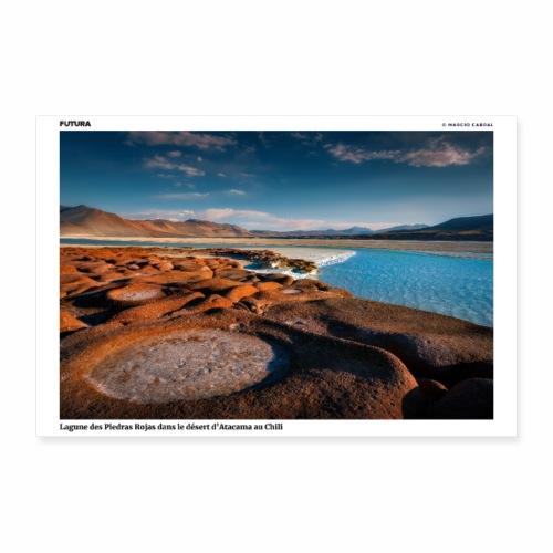 Poster Lagune des Piedras Rojas désert d'Atacama - Poster 90 x 60 cm