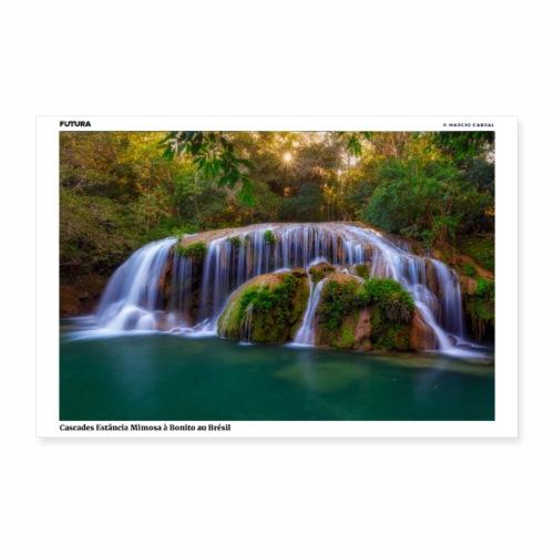 Poster Cascades Mimosa à Bonito au Brésil - Poster 90 x 60 cm