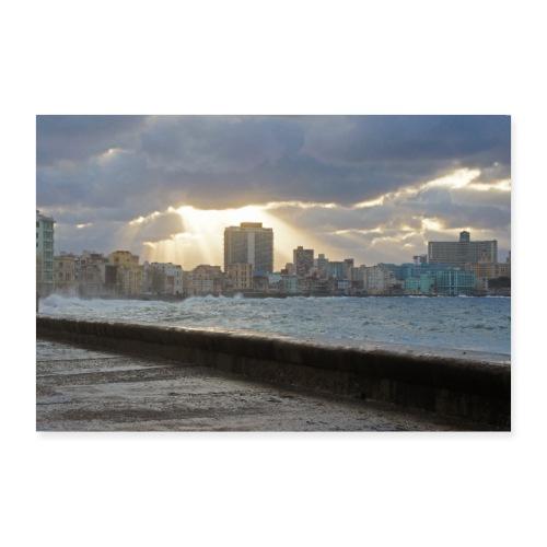 Malecón de la Habana - Poster 90x60 cm