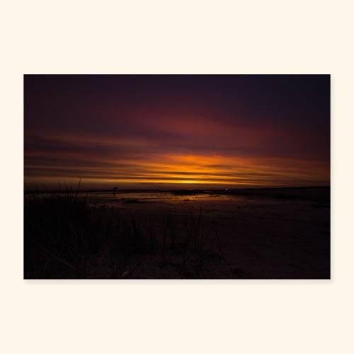Sonnenuntergang in Dänemark - Poster 90x60 cm