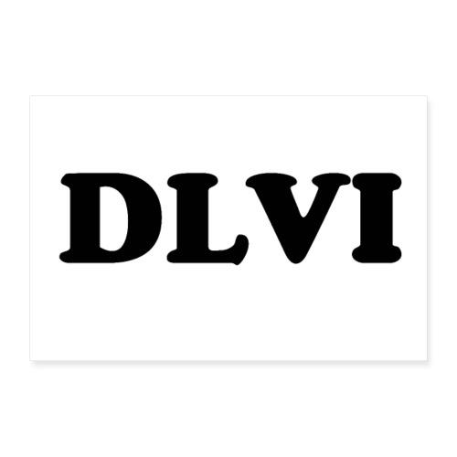 DLVI poster - Poster 36 x 24 (90x60 cm)