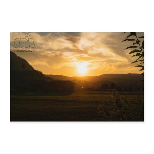 Sunset Poster - Poster 90x60 cm