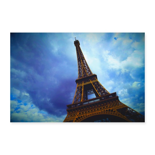travel Paris France tower Canon French Europe land - Poster 90 x 60 cm